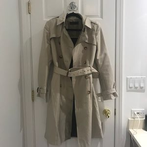 Zara midi trench coat